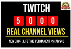 Add 5000+ Real Twitch Channel Views Instant , Non drop and Lifetime Permanent