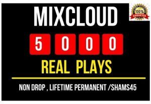 Get 5000+ Real Mix Cloud Plays Instant , Non drop and Lifetime Permanent