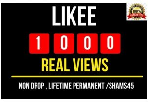 I will Provide 1000+ Likee Real Video Views , Non drop and Permanent