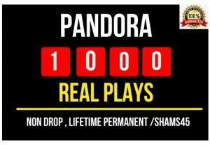 Add Instant 1000 Pandora Non drop Plays