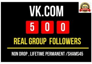 Get VK.Com 500+ Real Group followers Instant , Non drop and Lifetime Permanent