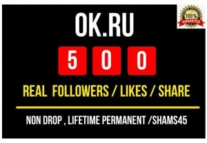 Get Instant OK.RU 500 likes / Share or Real followers