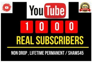 Add 1000+ YouTube Real Subscribers , Real and high Retention, Non-drop and Permanent