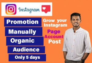 I will promote and grow your instagram account and page organically 200 followers only 5$