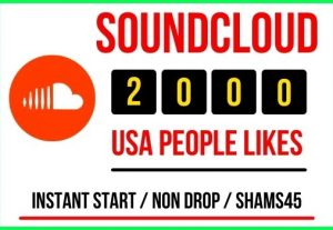 I will give 2000+ Sound Cloud likes Instant, all are real non drop and lifetime permanent