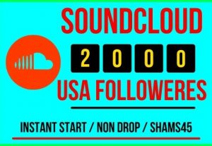 I will give 2000+ Sound Cloud Real followers Instant, all are real non drop and lifetime permanent