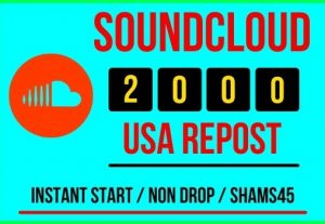 I will give 2000+ Sound Cloud Re post Instant, all are real non drop and lifetime permanent