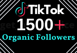 1500+ TikTok Real Followers With 100% Non-drop Lifetime Guarantee