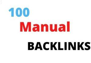 I will build quality 100 organic backlinks