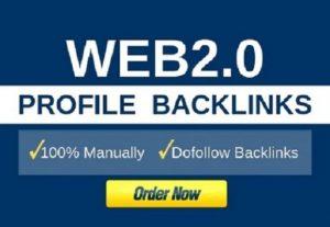 50 Web 2.0 High PR profiles and Edu/Gov Backlinks