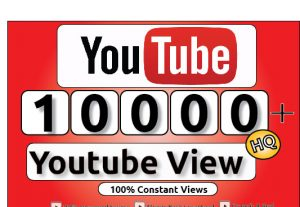 Get 10000+ Youtube Constant View, LifeTime Guranteed Service For 65$