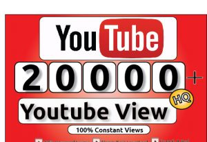Get 20000+ Youtube Constant Views, LifeTime Guranteed Service For 100$
