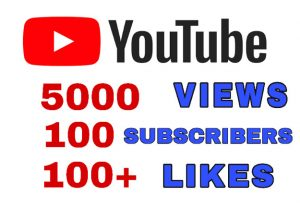 Get Package : 5000+ Views, 100 Subscribers, & 100+ Likes on YouTube Post.  Non Drop Guaranteed!