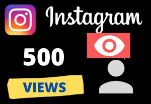 Get 500 instagram VIEWS – Non-drop – Fast delivery