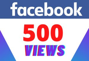 Get 500 facebook VIEWS – Non-drop – Fast delivery- HQ