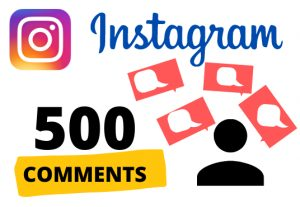 Get 500 instagram COMMENTS – Non-drop – Fast delivery