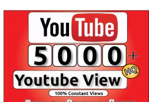 Get 5000+ Youtube Constant View, LifeTime Guranteed Service For 30$
