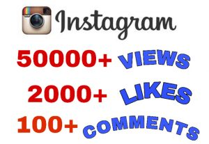 Get Package : 50000+ Views, 2000+ Likes & 100+ Comments on Instagram Video Post . Non Drop Guaranteed.