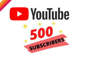 Get 500 YOUTUBE Suscribers  – Non-drop – Fast delivery- HQ