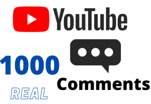 Get 1000 YOUTUBE comments – Non-drop – Fast delivery- HQ