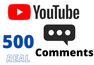 Get 500 YOUTUBE comments – Non-drop – Fast delivery- HQ