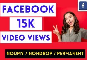 GET INSTANT 15,000+ FACEBOOK VIDEO VIEWS , NON DROP AND PERMANENT
