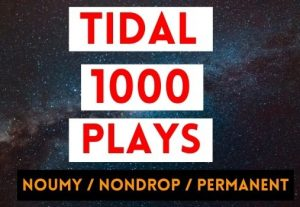 GET INSTANT 1000+ TIDAL PLAYS, NON DROP AND PERMANENT PROMOTION