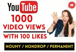 GET INSTANT 1000+ YOUTUBE VIDEO VIEWS WITH 100 LIKES , NON DROP AND LIFETIME GUARANTEED