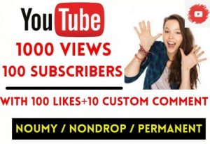 GET INSTANT 1000+ YOUTUBE VIDEO VIEWS WITH 100 SUBSCRIBERS , NON DROP AND LIFETIME GUARANTEED