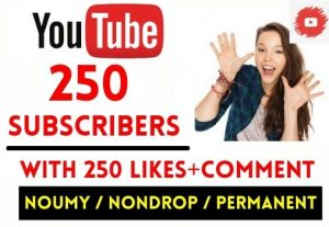 GET 250+ YOUTUBE SUBSCRIBERS WITH 250 LIKES AND COMMENT , NON DROP AND LIFETIME GUARANTEED