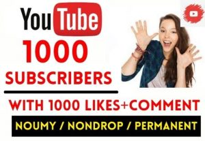 GET 1000+ YOUTUBE SUBSCRIBERS WITH 1000 LIKES AND COMMENT , NON DROP AND LIFETIME GUARANTEED