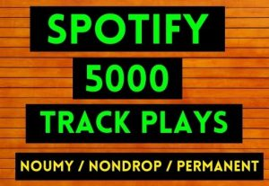 GET INSTANT 5000+ SPOTIFY TRACK PLAYS