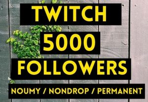 GET 5000+ TWITCH FOLLOWERS INSTANT AND NON DROP