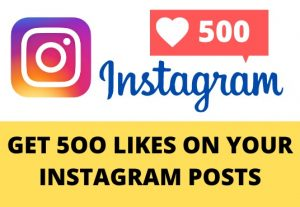 Get 500 instagram LIKES – Non-drop – Fast delivery