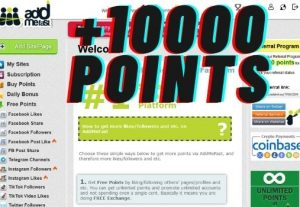 10000 Addmefast credit point new account or refill