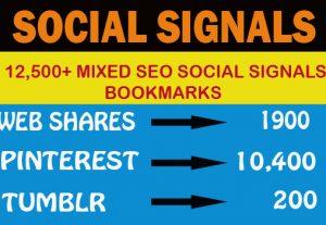 12,500+ Mixed Seo Social Signals Bookmarks Google Ranking