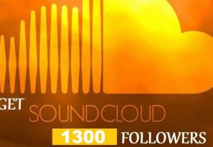 get 1300+ SoundCloud Organic and Real Followers instant, Non-drop And Lifetime guaranteed