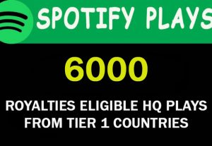 6000 Royalties Eligible HQ plays from TIER 1 Countries. USA/CA/EU/AU/NZ/UK.