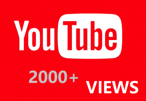 2000 YouTube Views Real And Organic
