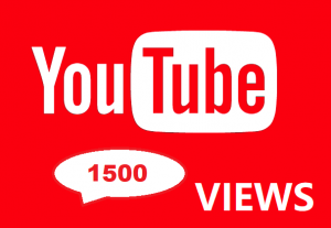 1500 YouTube Views Real And Organic
