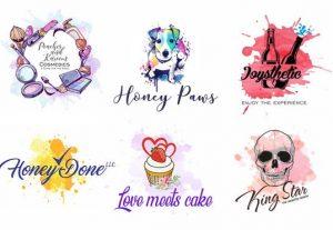 I will design watercolor feminine,hand drawn,fashion,beauty logo