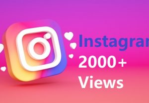 Give You 2000+ Instagram views Instant, Active User