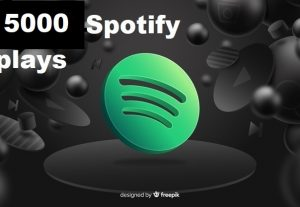 Get 5000+ Spotify Track Plays, High Quality, Active User