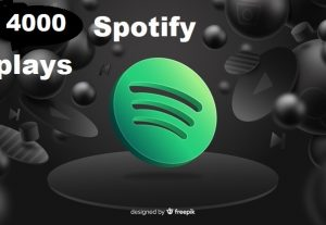 Get 4000+ Spotify Track Plays, High Quality, Active User