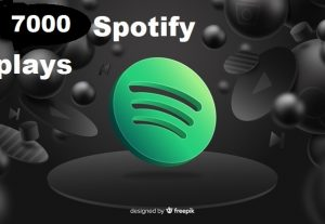 Get 7000+ Spotify Track Plays, High Quality, Active User