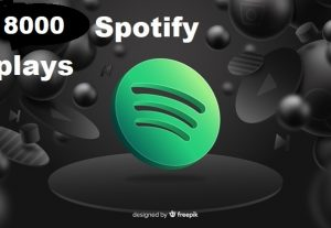 Get 8000+ Spotify Track Plays, High Quality, Active User