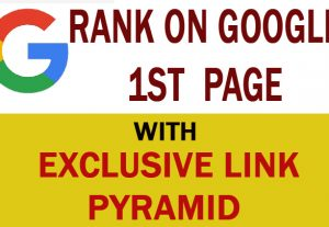 Rank on Google 1st page by exclusive Link Pyramid. Backlinks by Unique Domain