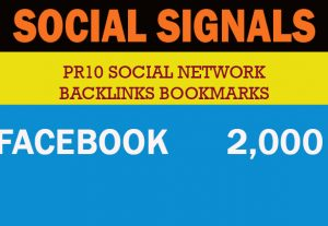 2,000 PR10 Social Network Backlinks Bookmarks – Help to rank your website Traffic Google First Page