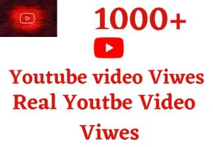 i will give you 1000+ video views non drop Real and 100%Grented and life time