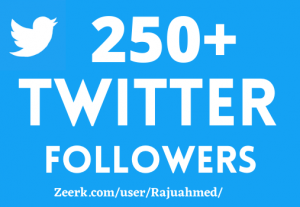 ADD 250+ TWITTER FOLLOWERS, NON DROP, TOP QUALITY ACTIVE PROFILES, BEST SERVICE IN MARKET